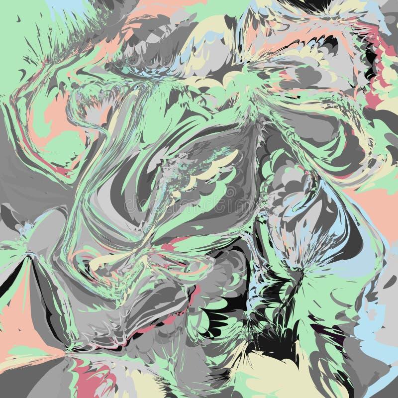 与使有大理石花纹的作用的抽象艺术性的传染媒介背景 例证,盖子,设计模板 大理石,液体颜色 库存例证