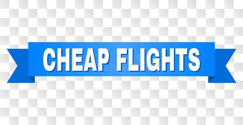 与便宜的飞行说明的蓝色条纹 库存例证