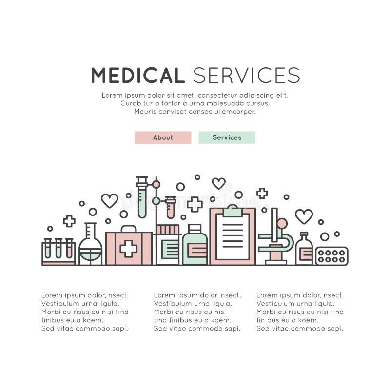 与保健控制技术的网络设计模板 皇族释放例证
