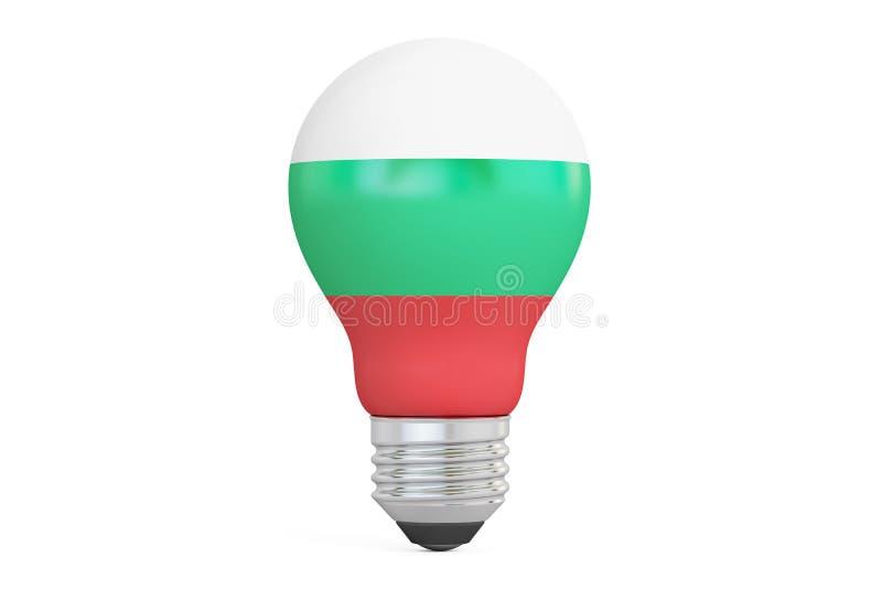 与保加利亚旗子, 3D的电灯泡翻译 皇族释放例证