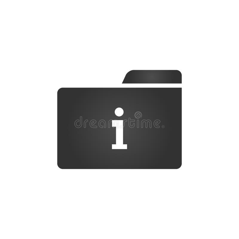 与信件的文件夹象在白色背景作为在时髦平的样式的信息隔绝的我,您的网站设计的, app,商标, UI Vect 库存例证