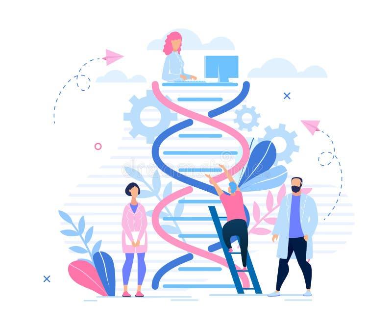与信息有关的海报基因研究动画片 皇族释放例证