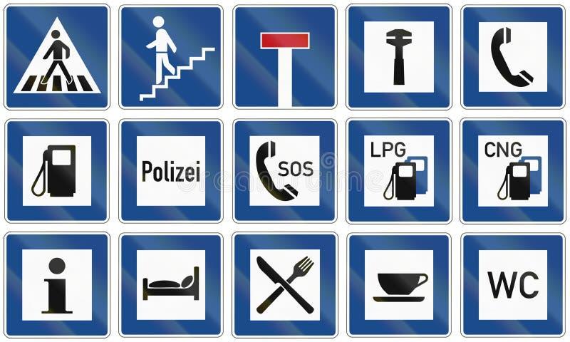 与信息有关的路标德国 库存例证
