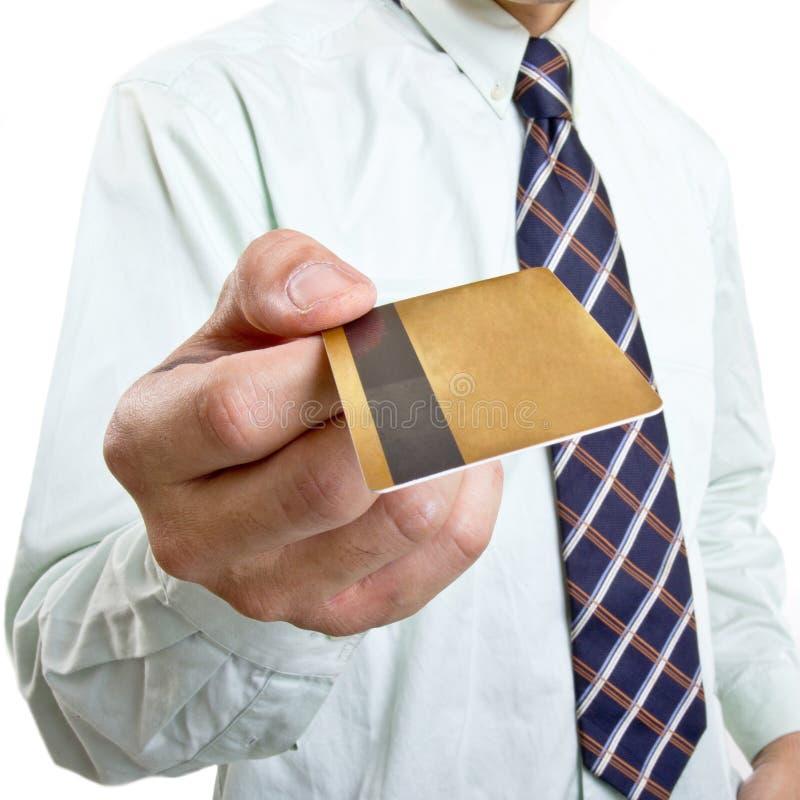 与信用卡的付款 库存照片