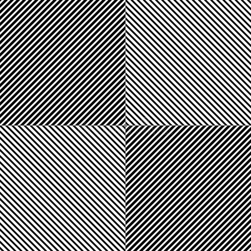 与倾斜,对角线的样式-直接,平行的obliq 皇族释放例证