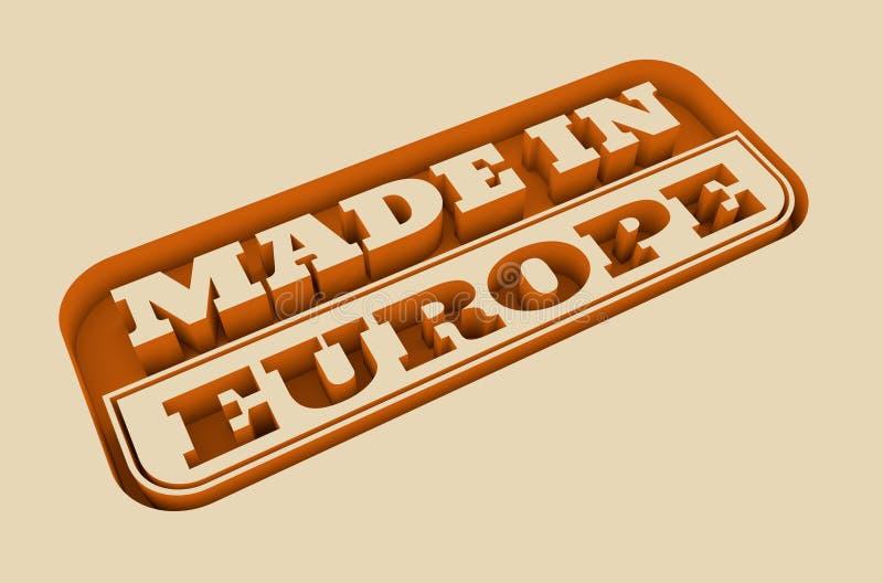 与做的被刻记的邮票在欧洲文本 向量例证