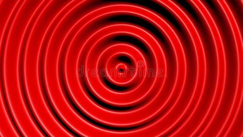与催眠作用的同心圆 库存图片
