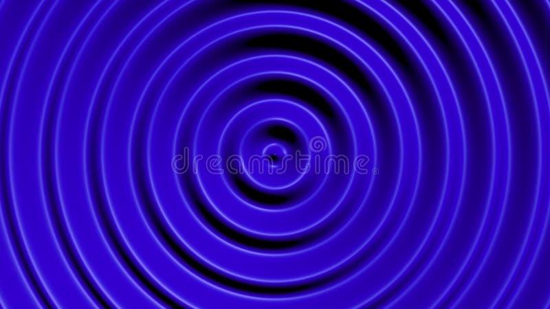 与催眠作用的同心圆 免版税库存图片