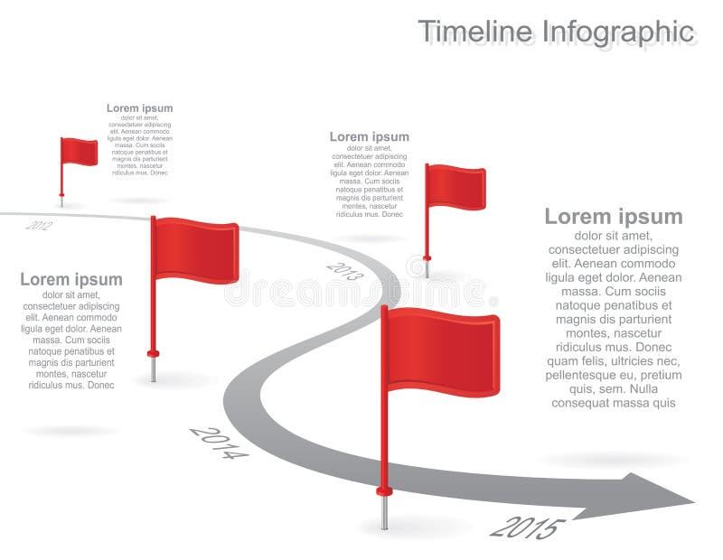 与元素,象的时间安排infographics 向量 库存例证
