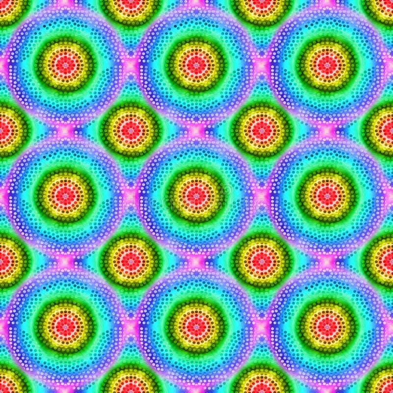 与充满活力的颜色样式的能量圈子 免版税库存图片