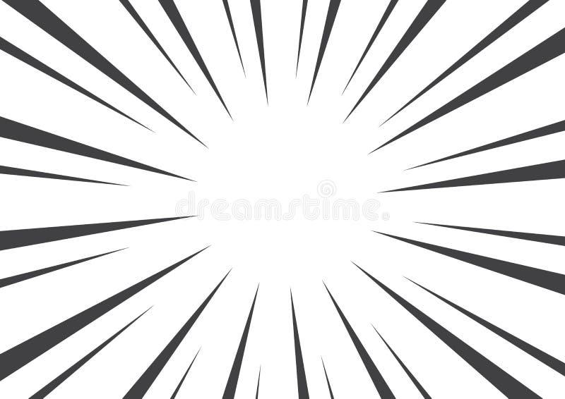 与光束的黑白流行艺术背景 也corel凹道例证向量 皇族释放例证