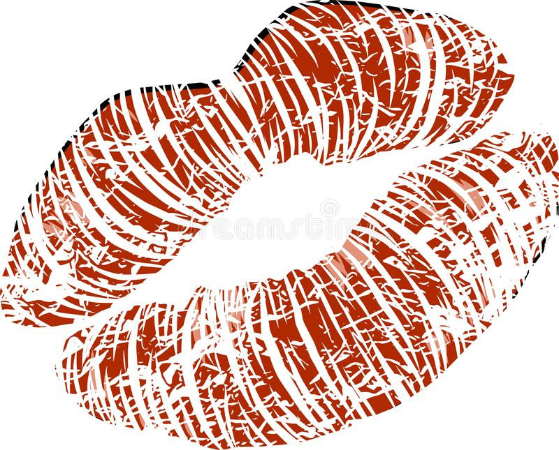 与光滑的性感的嘴唇的妇女s嘴 也corel凹道例证向量 库存例证