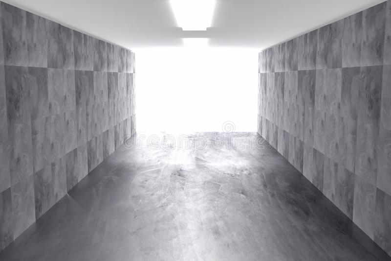 与光的摘要具体几何背景 3d?? 皇族释放例证