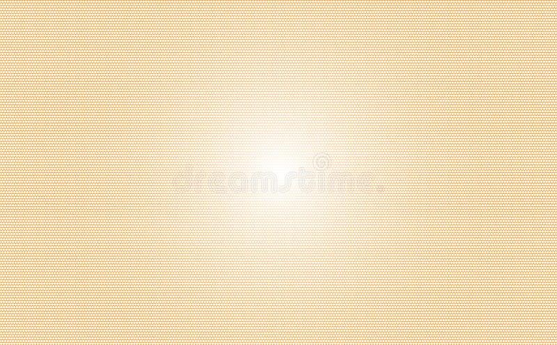 与光的橙色小点背景在中部 能为背景,卡片,名片使用,或者其他运作 库存例证