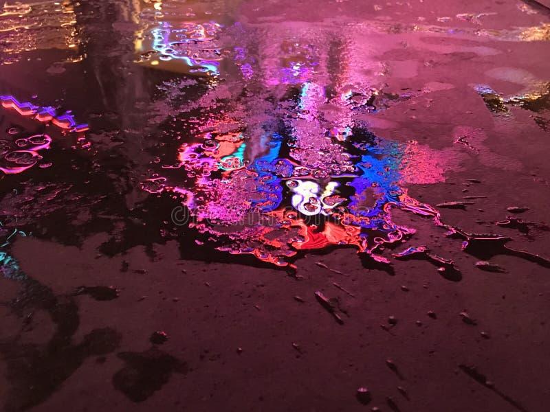 与光的水坑 图库摄影