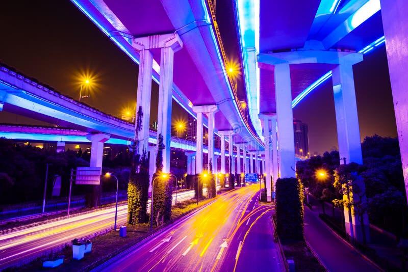 与光的连接点在香港 库存图片