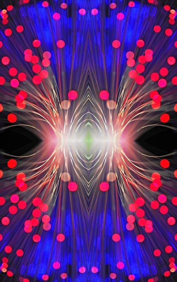 与光纤的抽象图象 库存例证