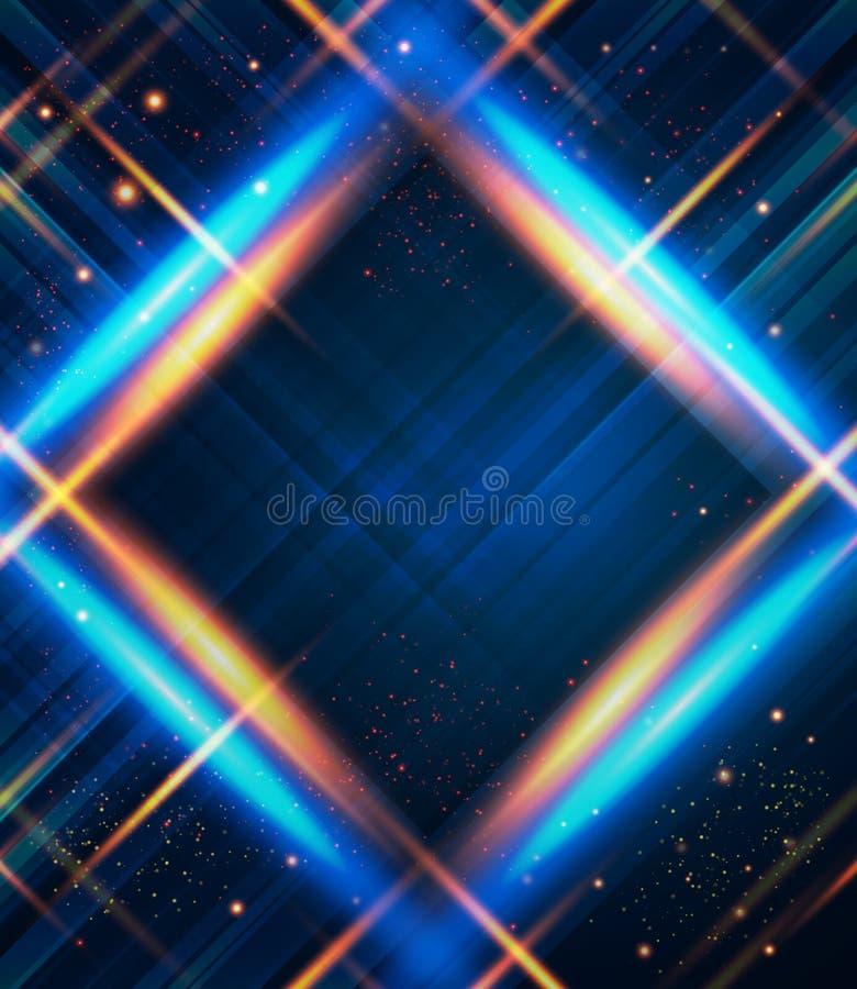 与光线影响的抽象格子花呢披肩背景。 皇族释放例证