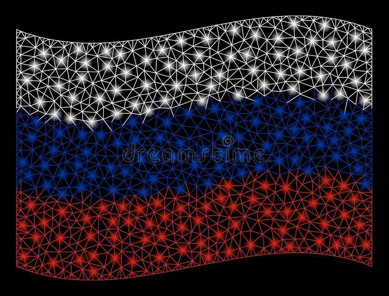 与光线影响的挥动的俄罗斯旗子滤网例证 免版税库存图片