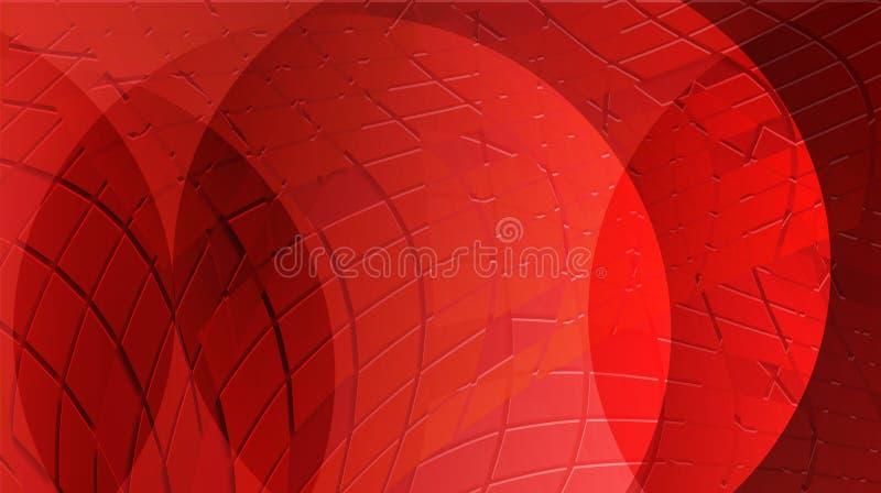 与光线影响的红色样式背景 向量例证