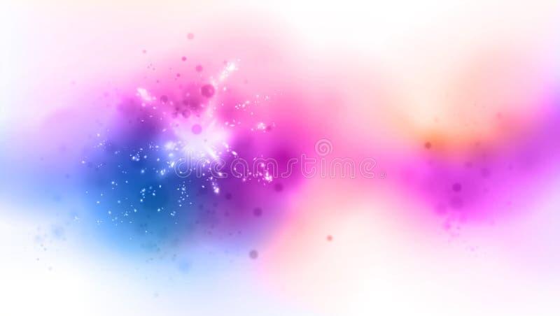 与光线影响的被遮蔽的颜色背景 向量例证