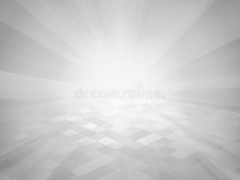 与光芒的灰色瓦片背景 库存照片