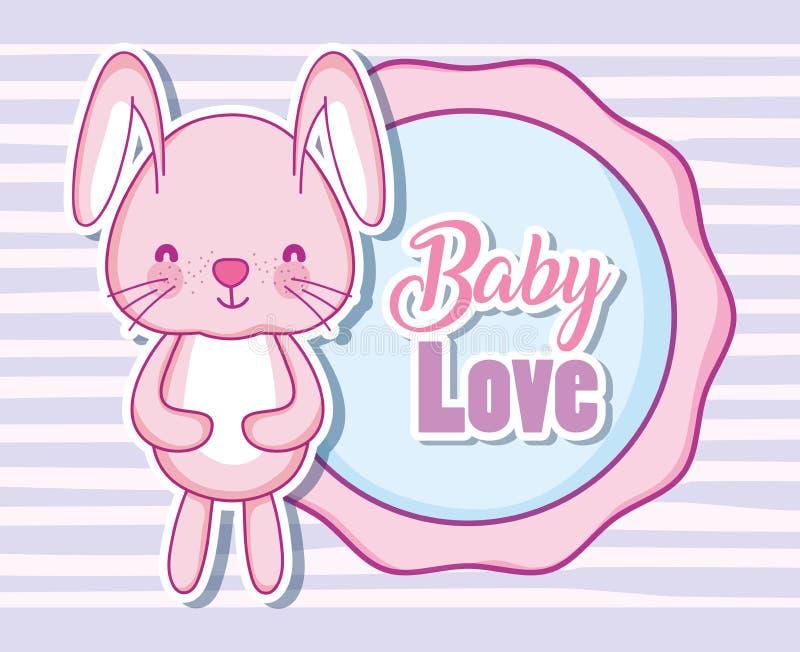 与兔宝宝的婴孩爱 库存例证