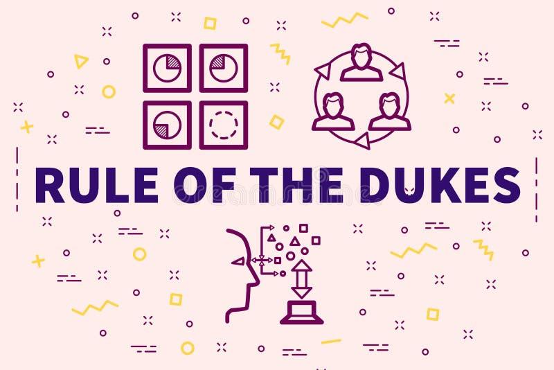 与公爵的词规则的概念性企业例证 向量例证