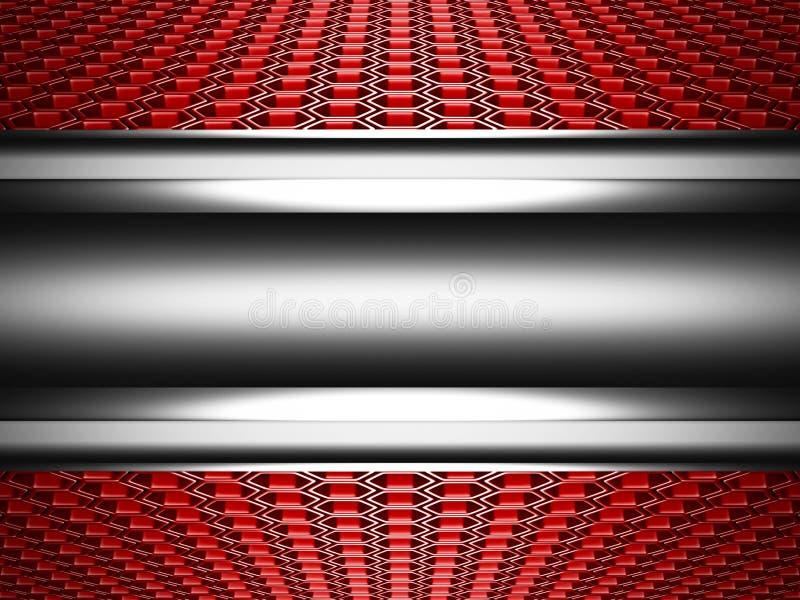 与六角形样式的抽象光滑的金属高科技背景 皇族释放例证