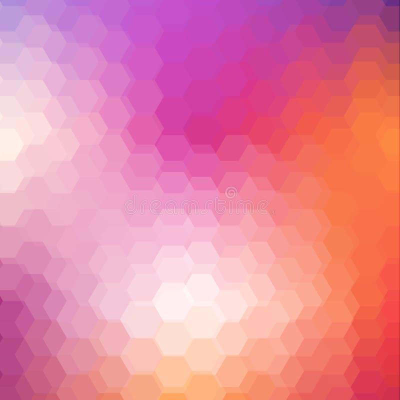 与六角形的几何光亮的样式 库存例证