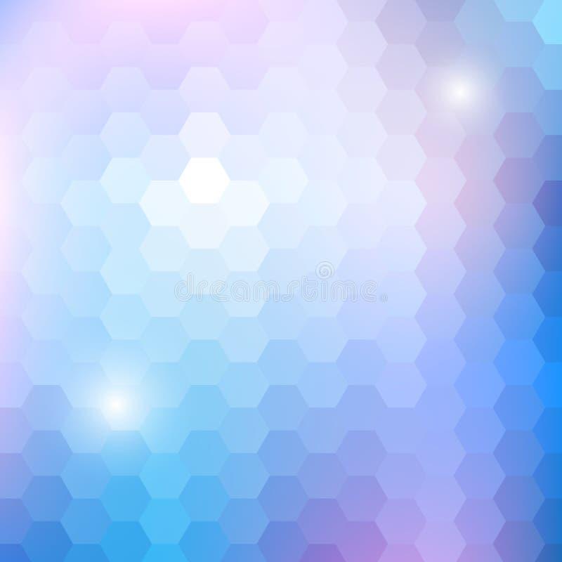 与六角形的几何光亮的样式 向量例证