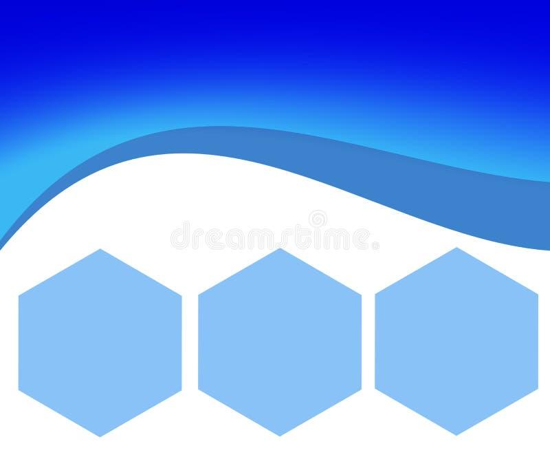 与六角形的抽象背景企业IT网站的 向量例证
