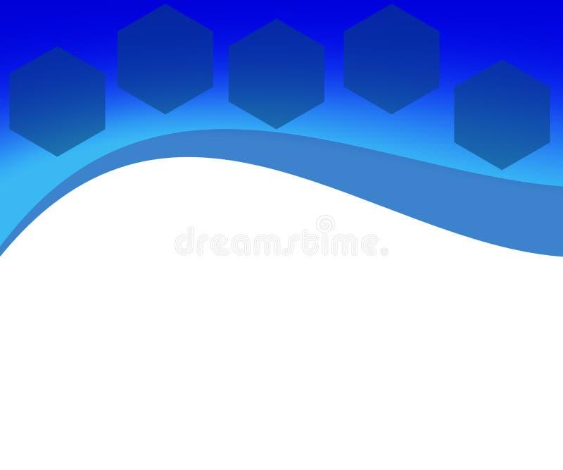 与六角形的抽象背景企业IT网站的 皇族释放例证