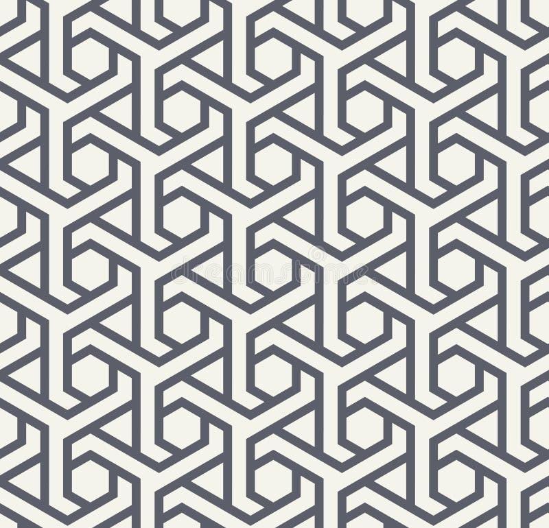 与六角形的Seamles几何样式和三角-导航eps8 皇族释放例证