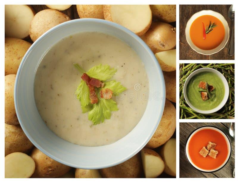 与其他的土豆汤亲切汤 图库摄影
