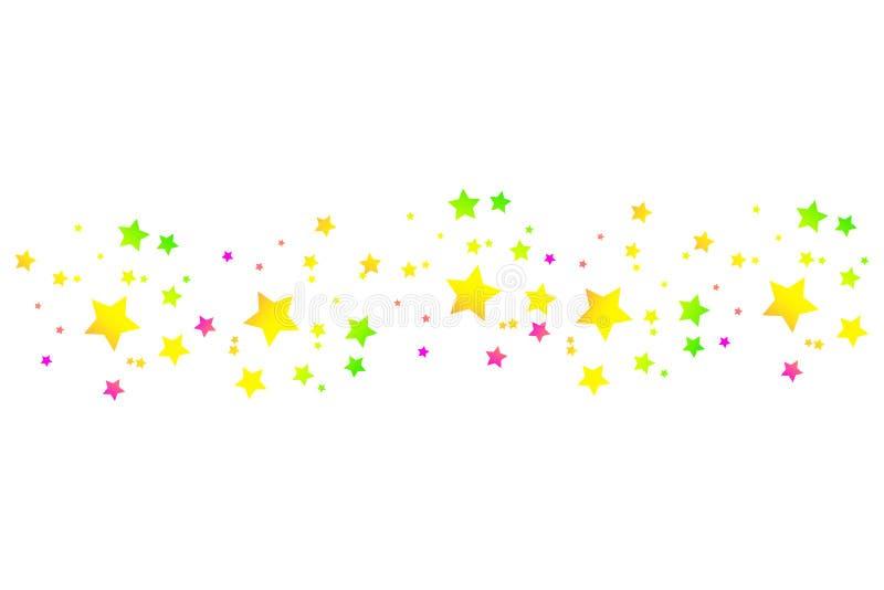 与典雅的星足迹的色的流星在白色背景 向量例证