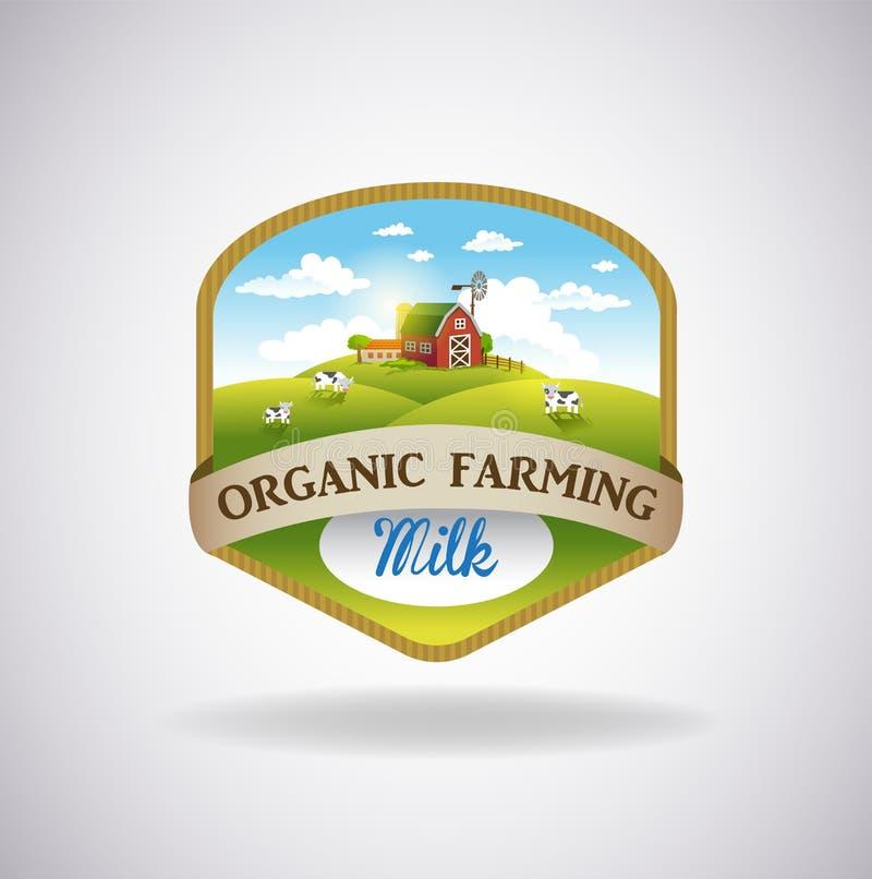 与农场的图象的标签 向量例证