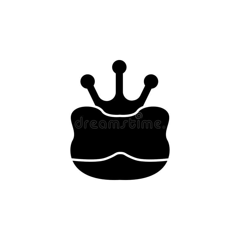 与冠剪影的羊羔 童话英雄例证的元素 优质质量图形设计象 标志和标志coll 库存例证