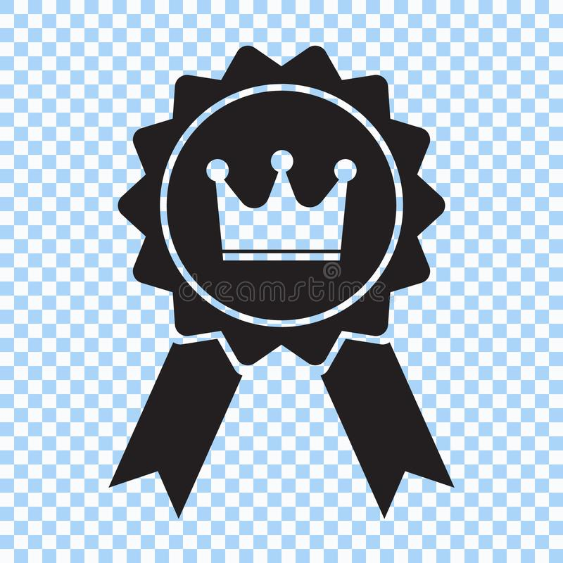 与冠和丝带象的奖 最佳的挑选符号 也corel凹道例证向量 库存例证