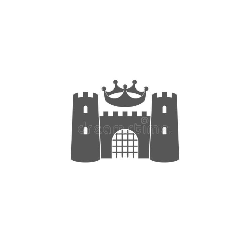 与冠的城堡 徽标 库存例证