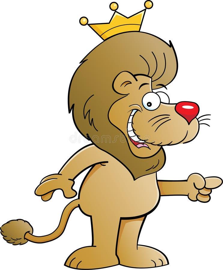 与冠的狮子 库存例证