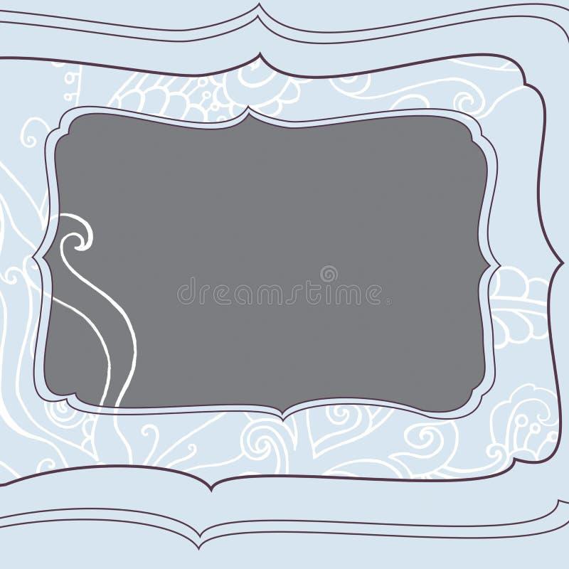 与冬天蓝色冷淡的圣诞节样式的方形的框架 图库摄影