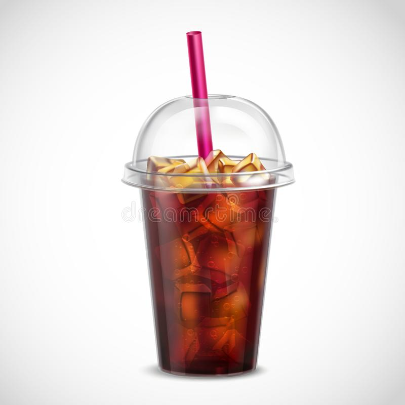 与冰外带现实的可乐 库存例证