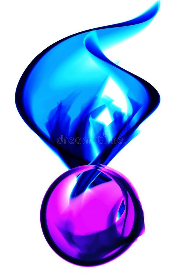 与冰波浪的火热的紫罗兰色球 免版税库存照片