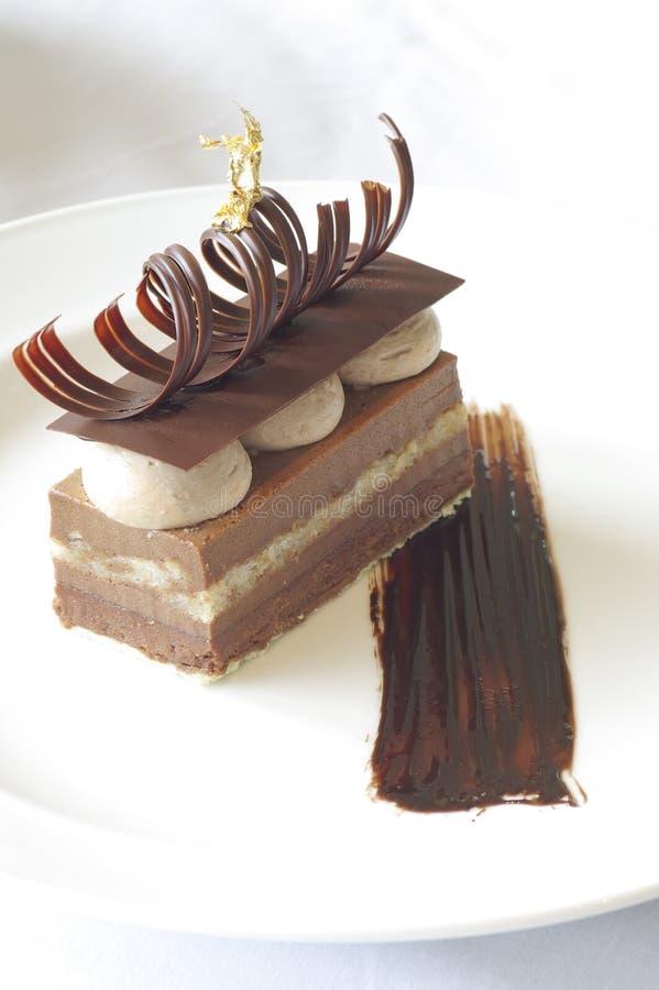 与冰淇凌的果仁巧克力 库存照片