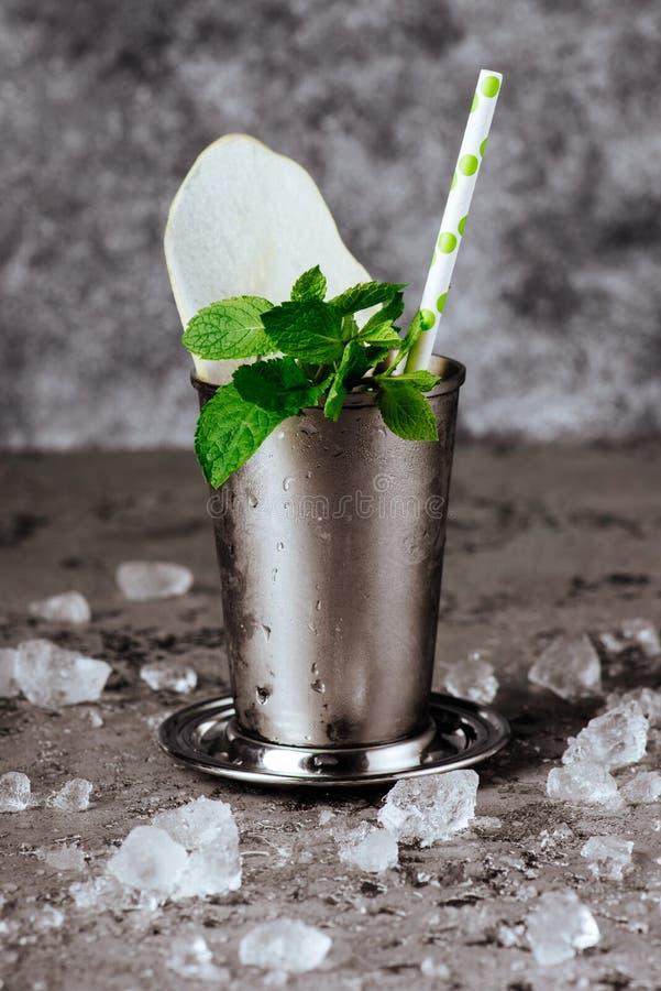 与冰的鸡尾酒薄荷朱利酒 库存图片
