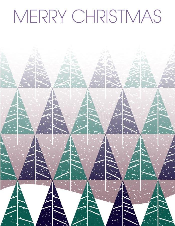 与冷杉木的圣诞快乐飞雪 皇族释放例证