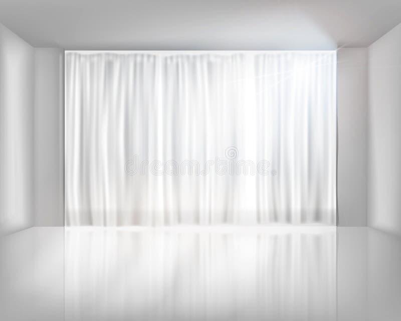 与净帷幕的窗口 也corel凹道例证向量 皇族释放例证