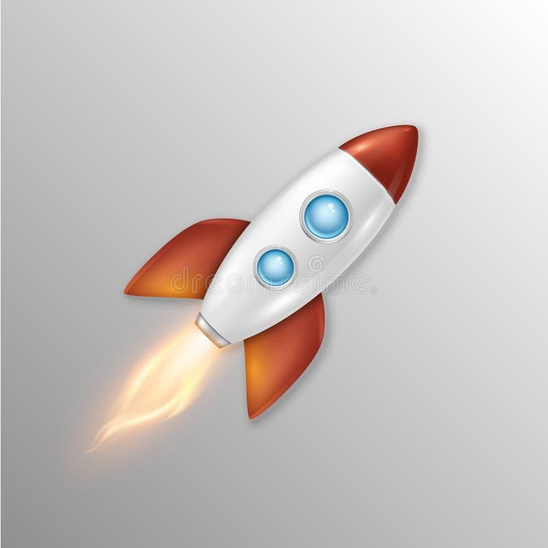 与减速火箭的太空火箭船发射,项目的模板的传染媒介背景开始和发展过程,创造性 皇族释放例证