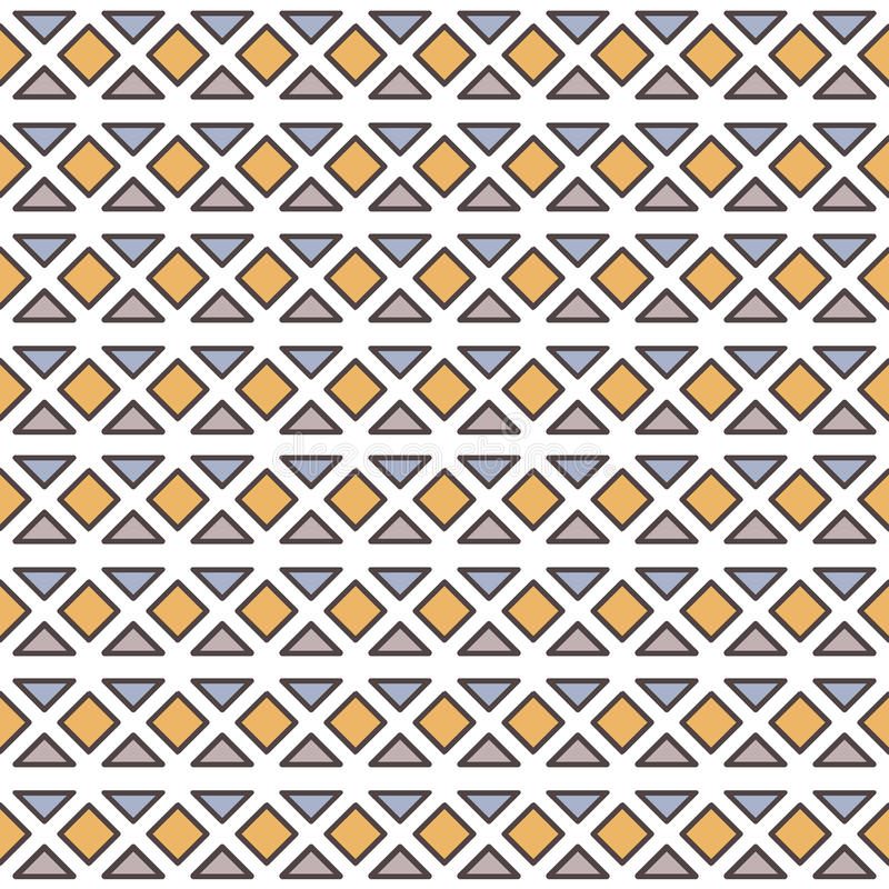 与几何元素的传染媒介无缝的样式 向量例证